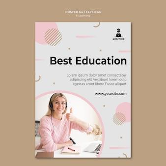 Concetto di e-learning design volantino