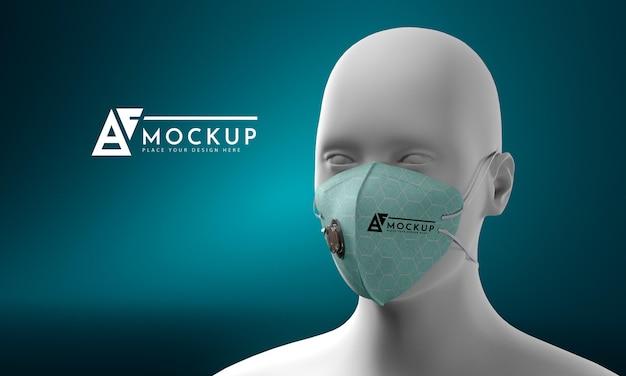 Concetto di maschera viso mock-up