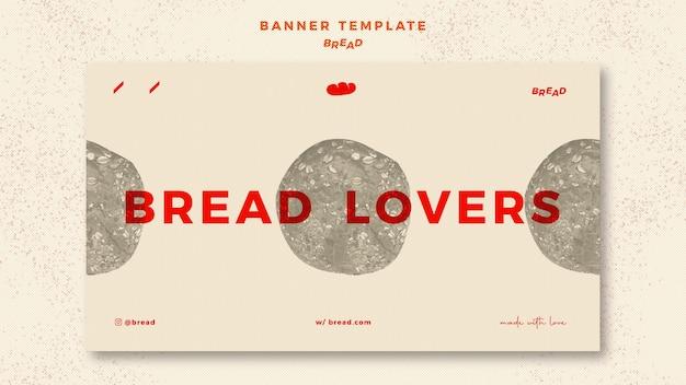 Concetto di modello di banner di pane