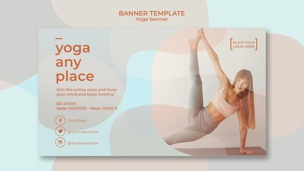 Concetto di modello di banner yoga