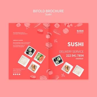 Concetto di modello di brochure sushi