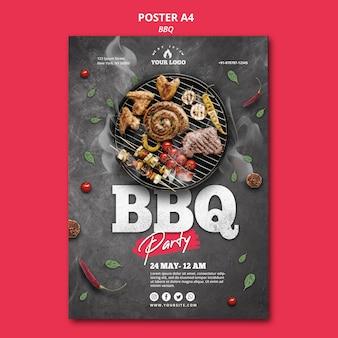 Concetto di modello di poster di barbecue