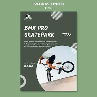 Concetto di modello di poster di biciclette