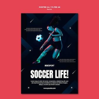 Concetto di modello di poster di calcio