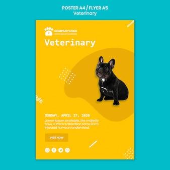 Concetto di modello veterinario con cane