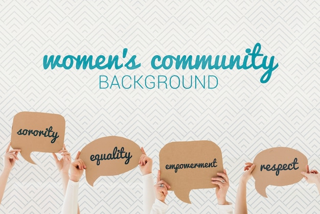Concetto di sfondo comunità femminile