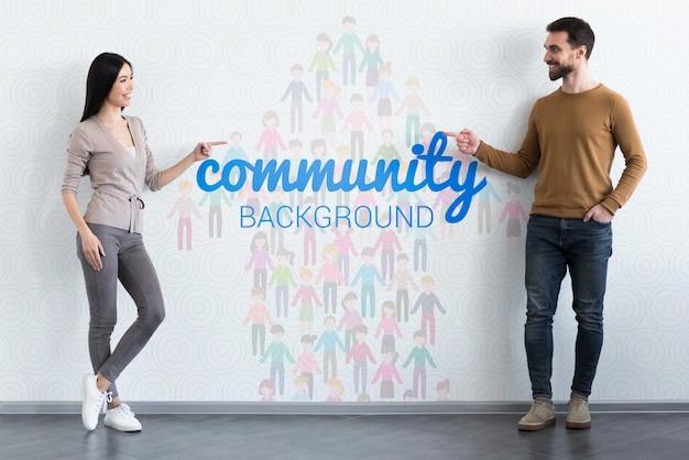 Concetto etnico di comunità mock-up