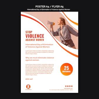 Concienciación sobre la violencia contra la mujer folleto a5