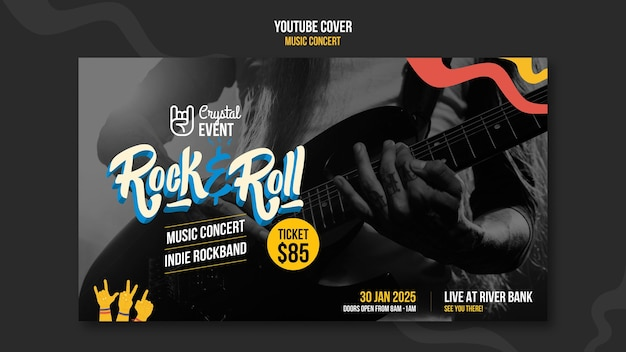 Concierto de música rock portada de youtube