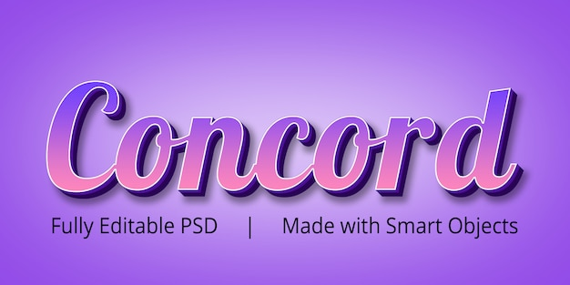 Concord style style effect