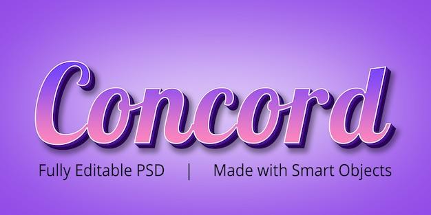 Concord tekststijl effect