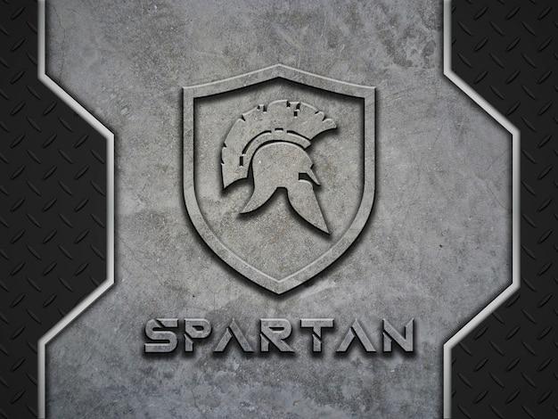 Concrete logo en enkele metalen poorten