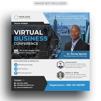Conference flyer social media post-sjabloon