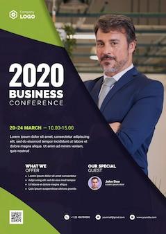 Conferencia de negocios 2020 con invitado especial