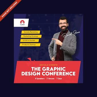 Conferentie flyer sjabloon