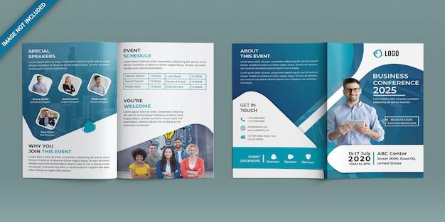 Conferentie tweevoudige brochure