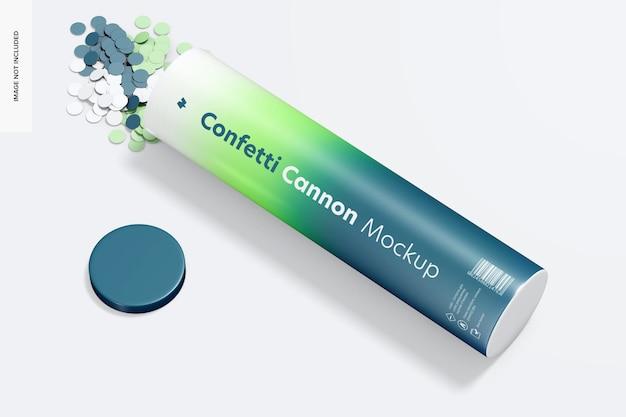 Confetti kanon mockup