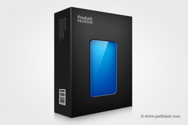 Confezione box modello di progettazione trasparente