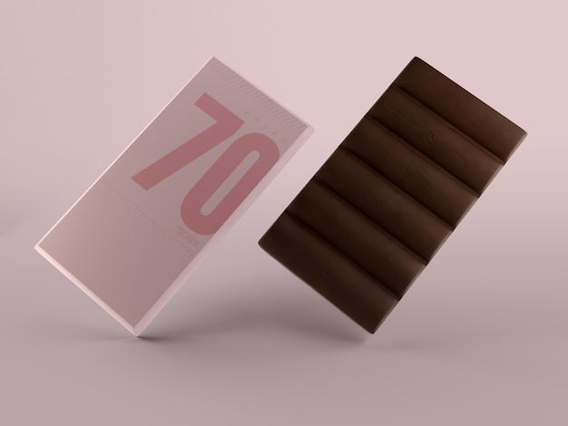 Confezione di carta per il modello di tavoletta di cioccolato