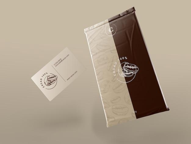 Confezione in plastica per tavoletta di cioccolato
