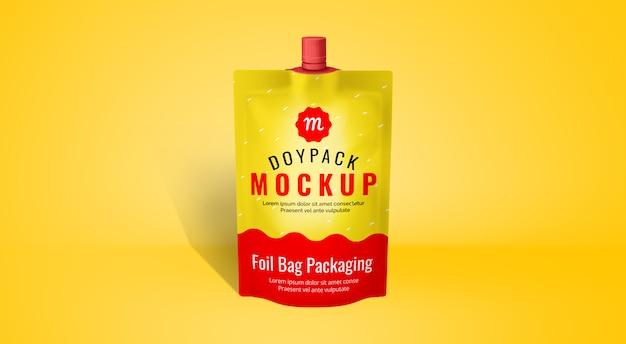Confezione mockup food doypack foil plastic