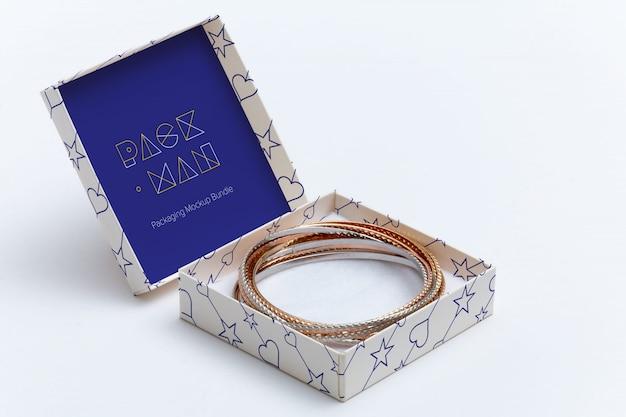 Confezione regalo mock up di progettazione