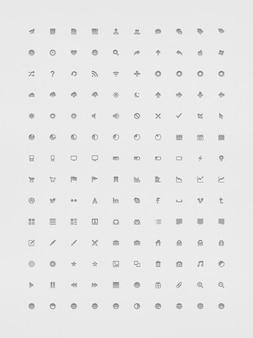 Configuración del sistema y de los pequeños iconos en psd