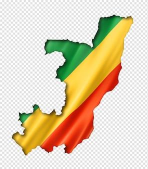 Congolese vlag kaart