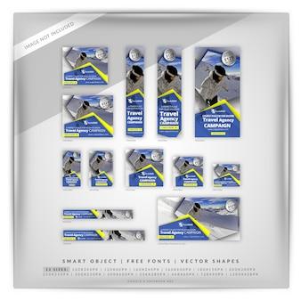 Conjunto de banners de deporte de invierno