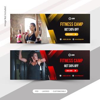 Conjunto de banners web de fitness