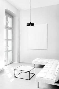 Conjunto de diseño de maqueta de sala de estar