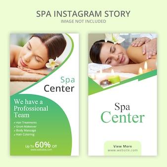 Conjunto de historias de instagram de spa