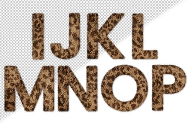 Conjunto de letras de pieles de animales i a p