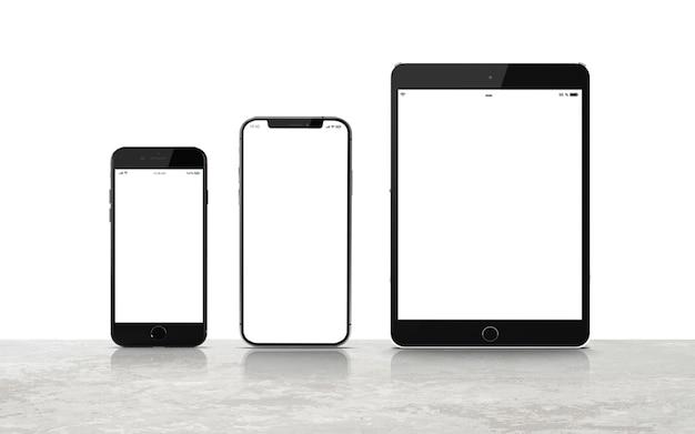 Conjunto de maquetas de dispositivos digitales