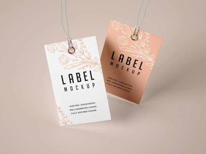 Conjunto de maquetas de etiquetas de papel