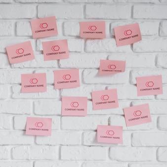 Conjunto de maquetas de notas adhesivas