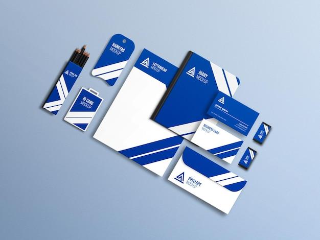 Conjunto de maquetas de papelería de negocios corporativos