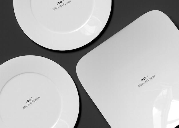Conjunto de maquetas de platos