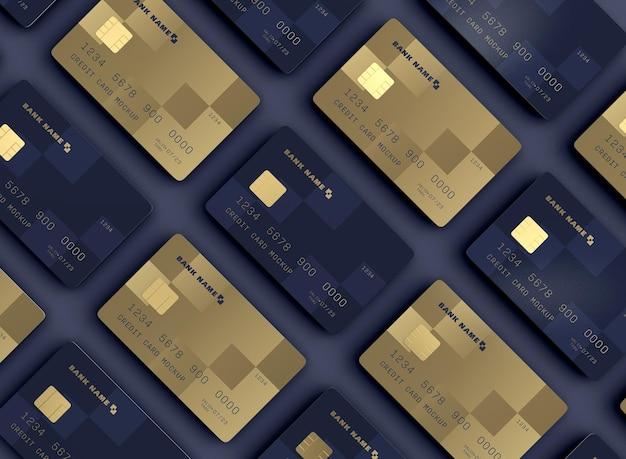 Conjunto de maquetas de tarjetas de crédito
