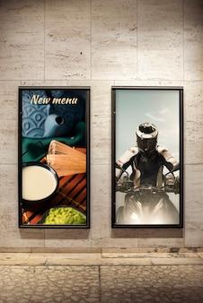 Conjunto de maquetas de vallas publicitarias