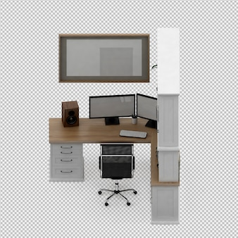 Conjunto de muebles de oficina.
