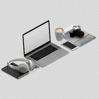 Conjunto de oficina y computadora.