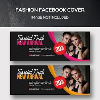 Conjunto de plantillas de portada de facebook de moda