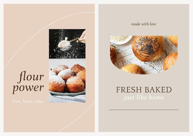Conjunto de plantillas de póster psd de marketing de café
