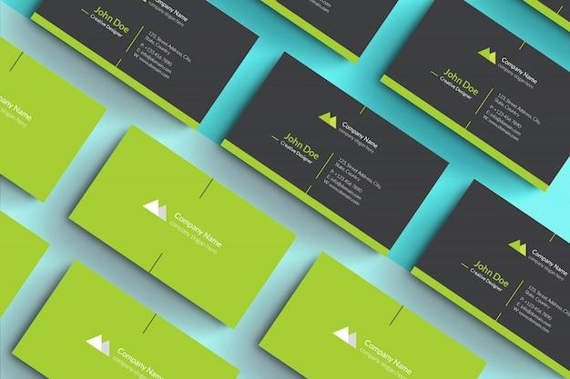 Conjunto de presentación de tarjeta de visita maqueta psd
