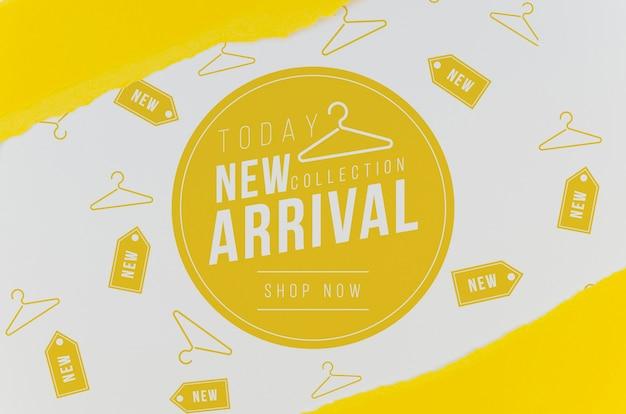 Conservare il modello del nuovo arrivo su carta
