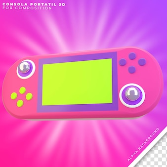 Console portable 3d voor compositie