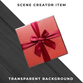 Contenitore di regalo isolato con il percorso di ritaglio.