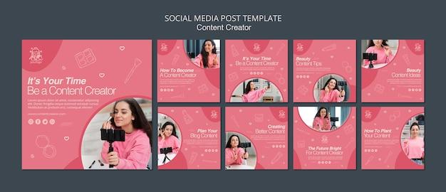Content maker social media post