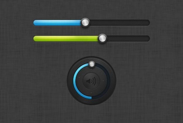 Controllo del volume in due colori